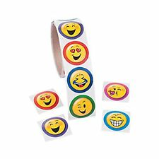 EMOJI PARTY Smiley Face Stickers Emoticon Faces Sticker Pack of 50 Free Postage