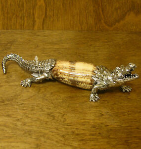 Kubla Crafts Shell Sculptures #KC1166 ALLIGATOR, NEW/Box From Retail Store,