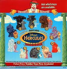 1997 McDonalds Hercules MIP Complete Set - Lot of 10, Boys & Girls,  3+