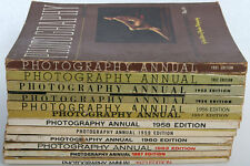 """Vintage * Popular Photography's """"Photography Annual"""" Magazines, 12 Editions 1950"""