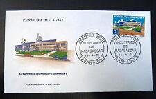 MADAGASCAR  484   PREMIER JOUR FDC    SAVONNERIE TROPICALE TANANARIVE   5F  1971