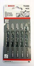 Bosch Jigsaw Blades Wood Cutting 5-50mm Pack of 5 T144D 2 608 630 040