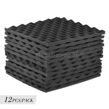 12 Pack Studio Acoustic Foams Panels Sound Insulation Foam 30 * 30cm/ 12 * O5T6