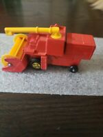 VINTAGE MATCHBOX NO. 51 COMBINE HARVESTER, SUPERFAST VERSION, 1977 yellow wheels