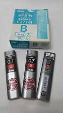 """10 tubes in a box : Pentel """"Ain STEIN"""" pencil lead B 0.7mm x 40pcs x 60mm"""