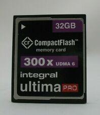 32GB INTEGRAL ULTIMA PRO 300X UDMA 6 CF COMPACT FLASH MEMORY CARD 32 GB