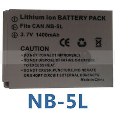 Battery Pack For Canon NB-5L NB5L Powershot S100 SX200 SX210 IS SX230 HS SD890