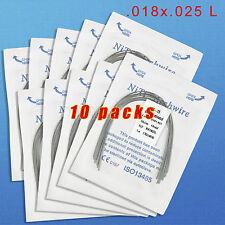 10X Dental Orthodontic Heat Thermal Activated Niti Rectangular Arch Wire 18X25L