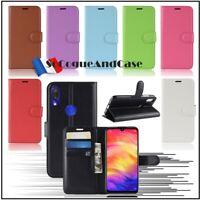 Coque Housse Etui Cuir PU Leather Wallet Case Xiaomi Redmi Note 7 Mi Play / Film