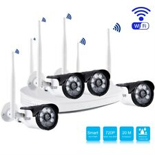 4Ch 720P Wifi Wireless Outdoor Home Surveillance Video Security Camera System Us