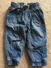 New H&M Denim Blue Boys Shorts With Cars 12-18 Months Old RRP £12.99