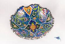 Turkish Bowl Ceramic Handmade Iznik Kutahya Large 20 cm