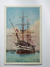 NAVE ship HMS THE VICTORY Portsmouth Royal Navy veliero old postcard 1106