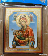 Russian wood icon Nursing Mother of God   Patroness of new mothers  with angels