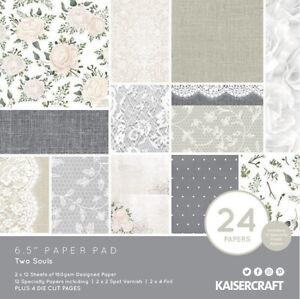 Two Soulsl 6.5x6.5 Kaisercraft Paper Pad Love Wedding romance