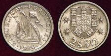 PORTUGAL 2,5 escudos 1980