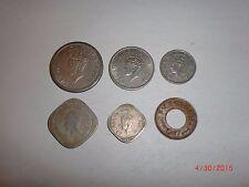 - BRITISH INDIA -  6  COINS - 1/2,1/4 RUPEE+2,1,1/2 ANNA+1 PICE - 1947-RARE#5HK