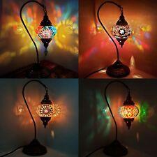 Turkish Moroccan Colourful Mosaic Lamp Light Tiffany Glass Desk Table UK SELLER