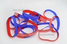 Wholesale Lots 1000pcs Mens Flag Rubber Bracelet Men Silicone wristbands FREE