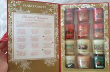 Yankee Candle 12 Votive Sampler Christmas Memories Gift Box Set & Simply Home