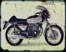 Benelli 650 Tornado S 1 A4 Metal Sign Motorbike Vintage Aged