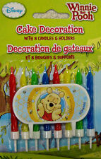 Winnie the Pooh Cake Decorating Candle set Birthday Party Supplies Disney Pooh