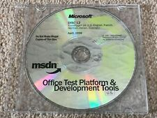 MICROSOFT MSDN OFFICE TEST PLATFORM & DEVELOPMENT TOOLS US CD FRONTPAGE 98 1998