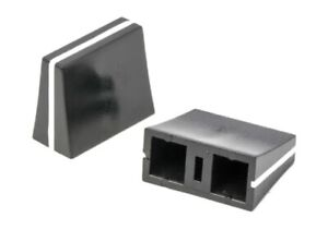 Slider Pot Knob - Wide - Mixer / Cross-fader etc - Black with White Line 19.5mm
