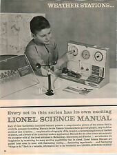 1961 ADVERT 8 PG Lionel Toy Weather Station Science Kits Inventors Engineering