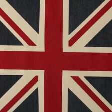 VE day Large union jack cushion panel, upholstery fabric, red, white, blue.