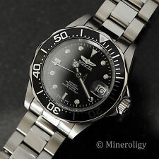 Invicta Black Dial Automatic 24 Jewel NH35A Pro Diver Stainless $315 Mens Watch