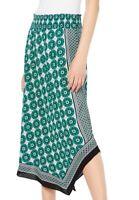 INC Womens Skirt Classic Green Size XL Asymmetrical Geometric Print $79 167