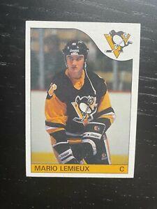 1985-86 TOPPS HOCKEY MARIO LEMIEUX #9 ROOKIESHARP