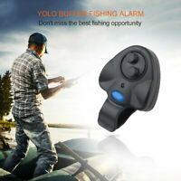 4 x Electronic LED Light Fishing Bite Sound Alarm Alert Bell Clip On Rod EP