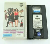 Satisfaction Video Store Clamshell VHS Tape 80s Teen Comedy Justine Bateman