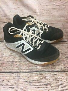 New Balance T3000BK4 Turf Shoes Black/ White Sz 10.5