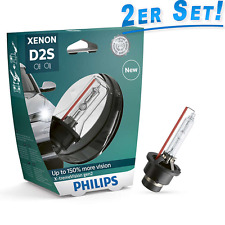 Philips D2S X-Treme Vision gen2 Xenon Bulbs 150% more View 85122XV2S1 2pcs