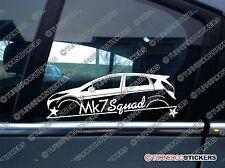 MK7 SQUAD sticker - for Ford Fiesta Mk7 5-DOOR