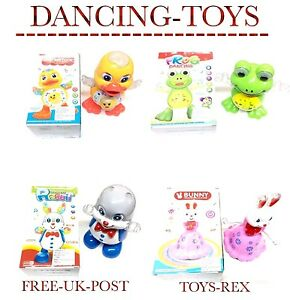 NEW HAPPY DANCING TOY WITH MUSIC AND LIGHTS FROG / DUCK / BUNNY/RABBIT UK SELLER