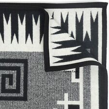 PENDLETON Naskan SADDLE THROW BLANKET NWT Ivory Black WOOL COTTON Southwestern