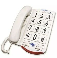 Clarity JV-35W Corded Amplified Big White Button Braille Phone