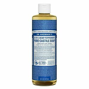 Dr. Bronner's - Pure-Castile Liquid Soap (Peppermint, 16 ounce) - Made with O...