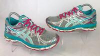 Womens Asics Gel Surveyor 3 Running Shoes Silver Blue Pink White T564N Size 8