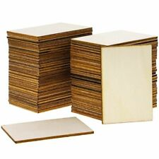 60-Pack Unfinished Wood Rectangle Cutouts for DIY Crafts, 2 x 3 Inches