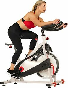 Premium Indoor Cycle Spin Bike 40lb Flywheel Belt Drive Caged/Clip-In Pedals