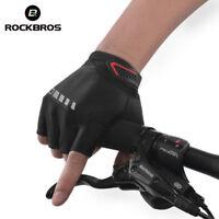 RockBros Cycling Half Finger Gloves Sport Silicone Gel Breathable Black Gloves