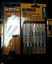 DEWALT DW3741C 10 PC T SHANK JIGSAW BLADE SET 2 SIDED CASE