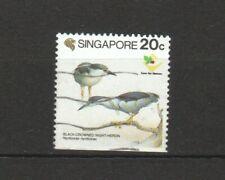 SINGAPORE 1994 BIRDS SERIES NIGHT HERONS BOTTOM BOOKLET PANE 1 STAMP FINE USED