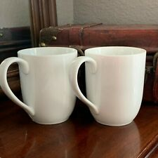 Pottery Barn Great White Mugs Cups Set of 2 Farmhouse Tall Latte