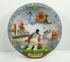 Bradford Exchange Disney Winnie The Pooh 3D Plate Hundred Acre Happiness Eeyore